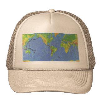 1994 mapa del mundo físico - placas tectónicas - U Gorro