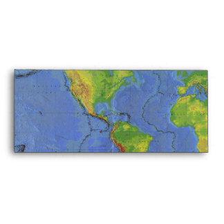 1994 mapa del mundo físico - placas tectónicas - U