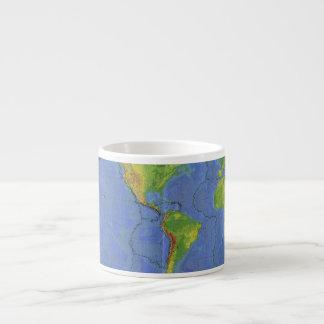 1994 mapa del mundo físico - placas tectónicas - U Taza Espresso