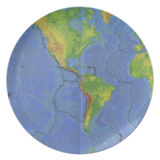 1994 Physical World Map Tectonic Plates Usgs Zazzle Com