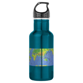 1994 Physical World Map - Tectonic Plates - USGS 18oz Water Bottle