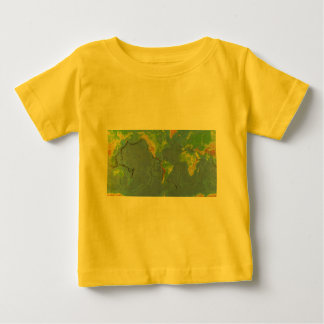 1994 Physical World Map - Tectonic Plates - USGS Baby T-Shirt