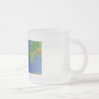 1994 Physical World Map - Tectonic Plates - USGS Frosted Glass Coffee Mug