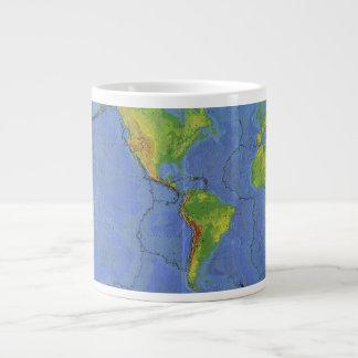 1994 Physical World Map - Tectonic Plates - USGS Giant Coffee Mug