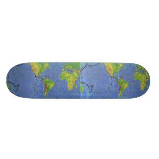 1994 Physical World Map - Tectonic Plates - USGS Skateboard Deck