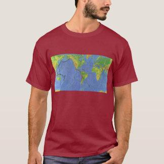 1994 Physical World Map - Tectonic Plates - USGS T-Shirt