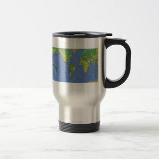 1994 Physical World Map - Tectonic Plates - USGS Travel Mug