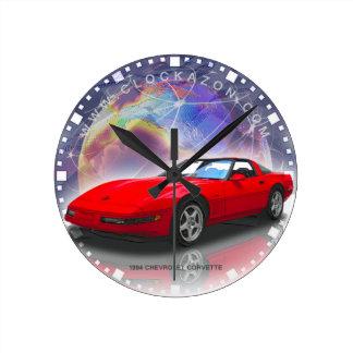 1994 Red Chevrolet Corvette Decorative Wall Clock