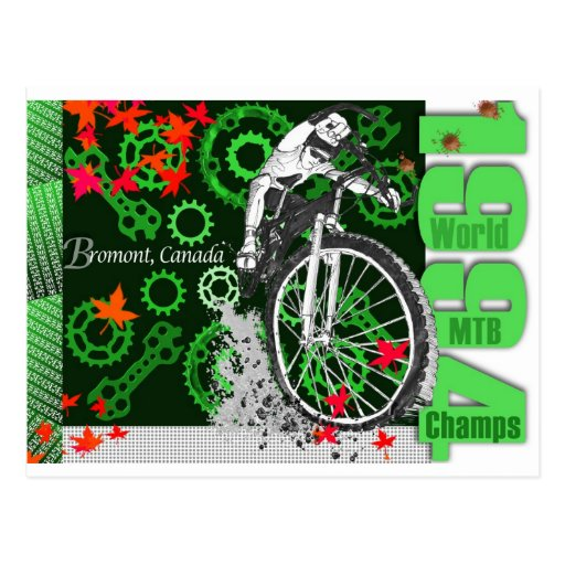 1994 World MTB Champs: Bromont, Canada Postcard