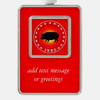 1995 años del cerdo adornos navideños