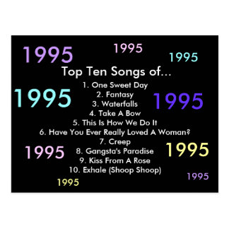 1995 canciones tarjetas postales