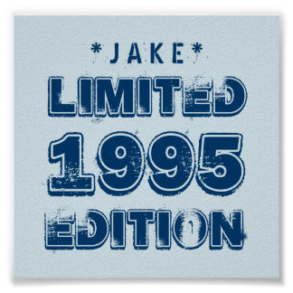 1995 or Any Year Birthday Limited Edition 20th V6Z Poster