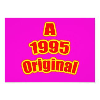 "1995 Original Red Mag 5"" X 7"" Invitation Card"