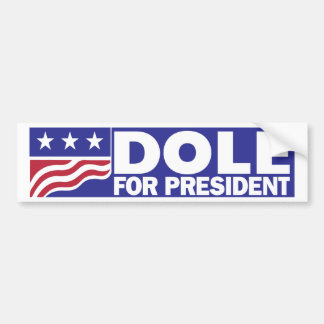 1996 Bob Dole for President Bumper Sticker