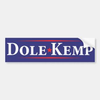 1996 Bob Dole Jack Kemp Election Bumper Sticker Car Bumper Sticker