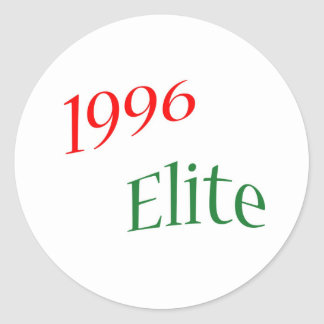 1996 Elite Classic Round Sticker