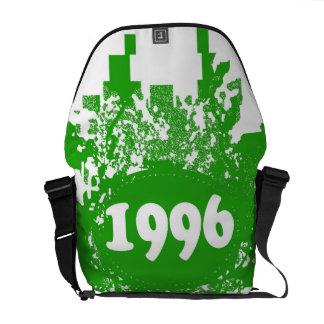 1996 -Green, White Vintage retro - Messenger Bags
