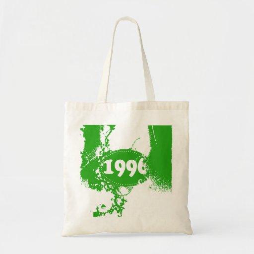 1996 - Vintage verde retro - las bolsas de asas