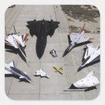 1997 Dryden Research Aircraft Fleet on Ramp Square Sticker