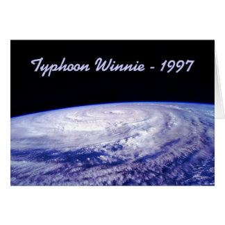 1997 Typhoon Winnie Greeting Card