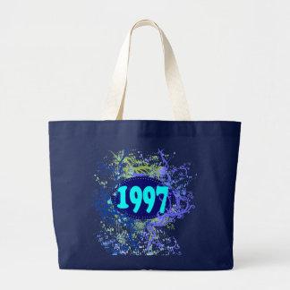 1997 - Vintage colorido retro - las bolsas de asas