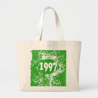 1997 - Vintage verde retro - las bolsas de asas