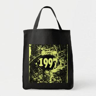 1997 - Yellow, Black Vintage retro - Tote Bags
