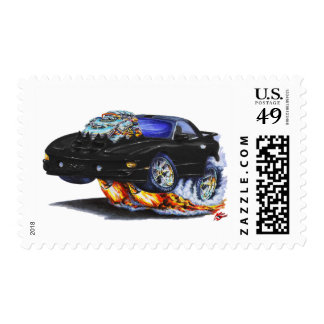 1998-02 Firebird Trans Am Black Car Postage Stamps
