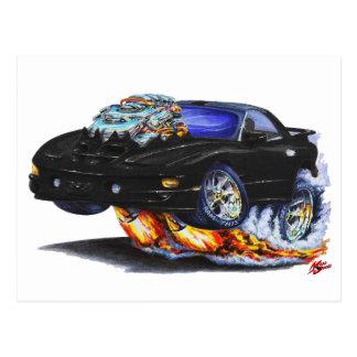 1998-02 Firebird Trans Am Black Car Postcard