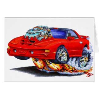 1998-02 Firebird Trans Am Red Car Greeting Cards