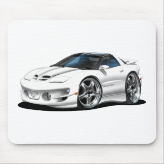 1998 -02 Firebird Trans Am White Car Mouse Pad