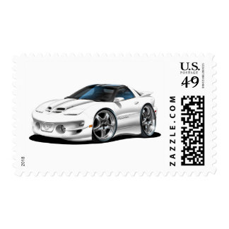 1998 -02 Firebird Trans Am White Car Postage Stamps
