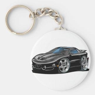 1998-02 Trans Am Black Car Basic Round Button Keychain