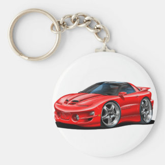 1998-02 Trans Am Red Car Basic Round Button Keychain