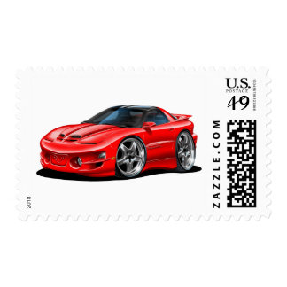 1998-02 Trans Am Red Car Postage Stamp