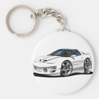 1998-02 Trans Am White Car Basic Round Button Keychain