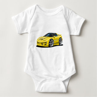 1998-02 Trans Am Yellow Car Baby Bodysuit