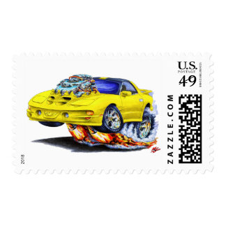 1998-02 Trans Am Yellow Car Postage Stamps