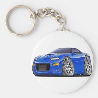 1998-03 Camaro SS Blue Car Basic Round Button Keychain
