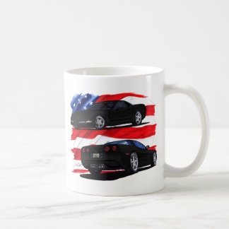 1998-04 Corvette Black Car Coffee Mug