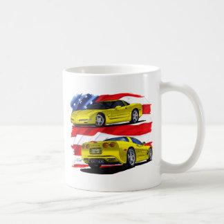 1998-04 Corvette Yellow Coffee Mug