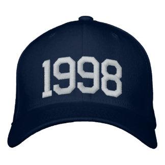 1998 años gorras bordadas