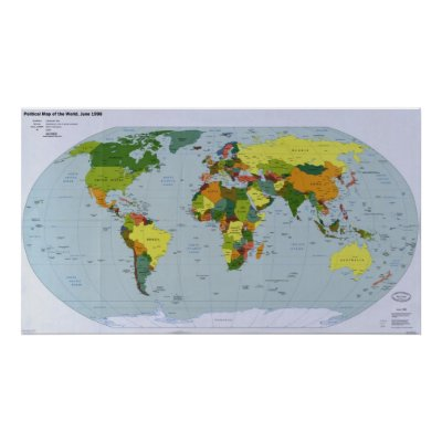 world map political map. 1998 Political Map of the