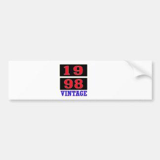 1998 Vintage Car Bumper Sticker