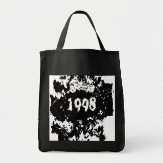 1998 - Vintage negro, blanco retro - las bolsas de