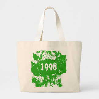 1998 - Vintage verde, blanco retro - las bolsas de