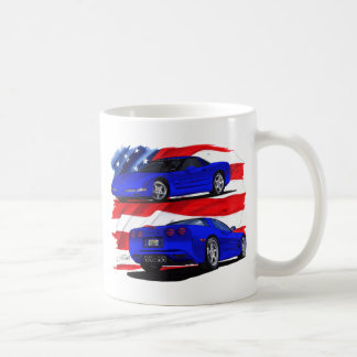 1999-04 Corvette Blue Car Coffee Mug