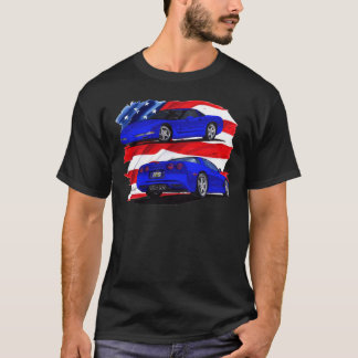 1999-04 Corvette Blue Car T-Shirt