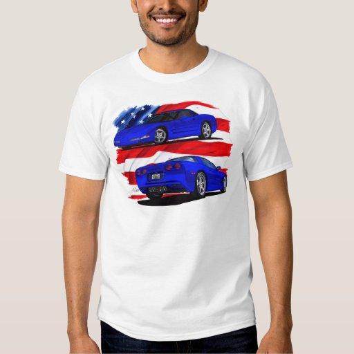 1999-04 Corvette Blue Car Tee Shirt
