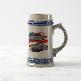 1999-04 Corvette Grey Car Beer Stein